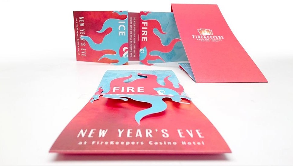 Firekeepers Fire Ice Invite Grand Rapids Commercial Printer